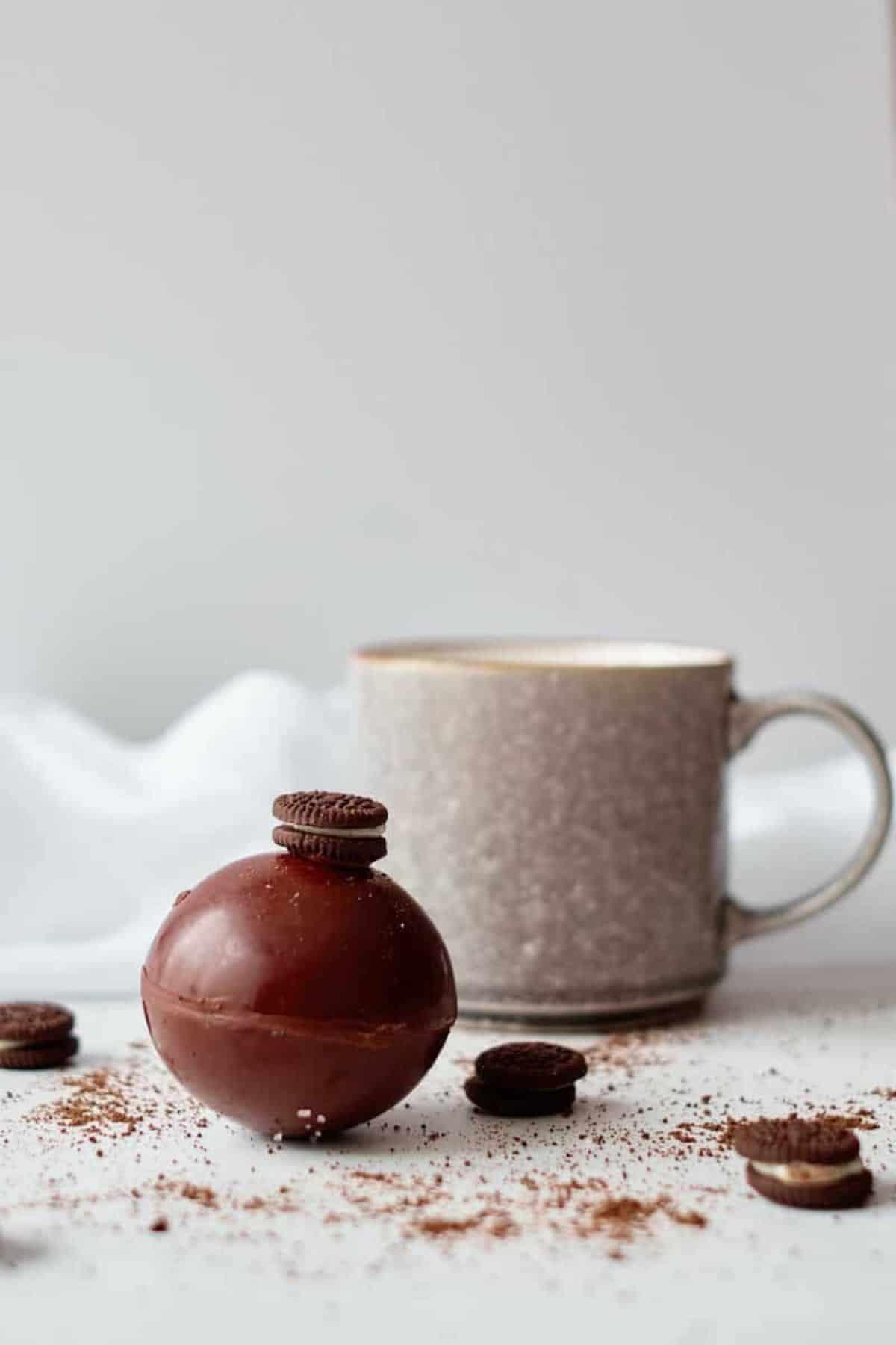 OREO hot cocoa bomb