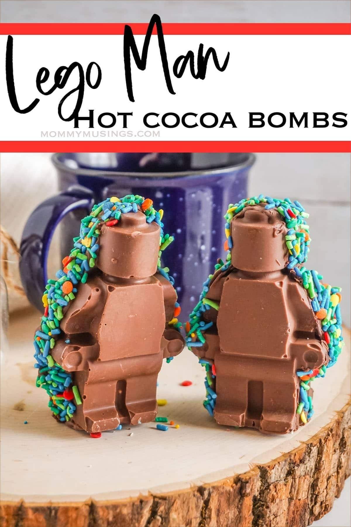 LEGO man hot cocoa bomb