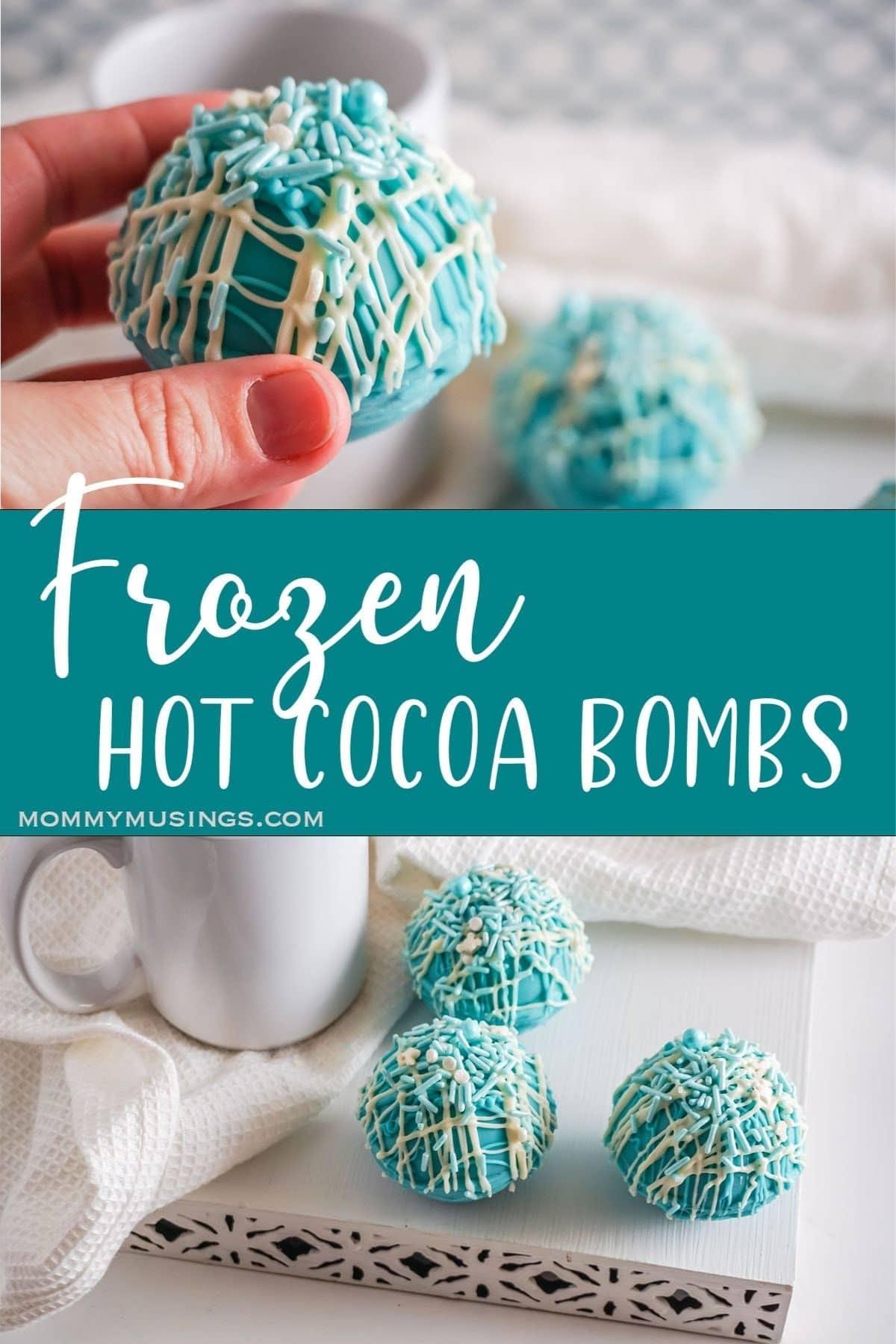 Frozen hot cocoa bomb