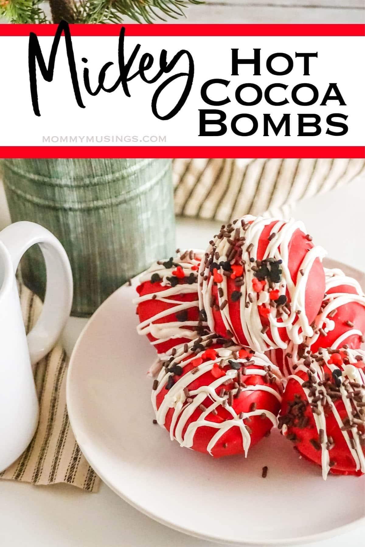 Mickey Mouse hot cocoa bomb