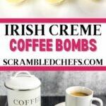 Irish creme coffee bomb collage