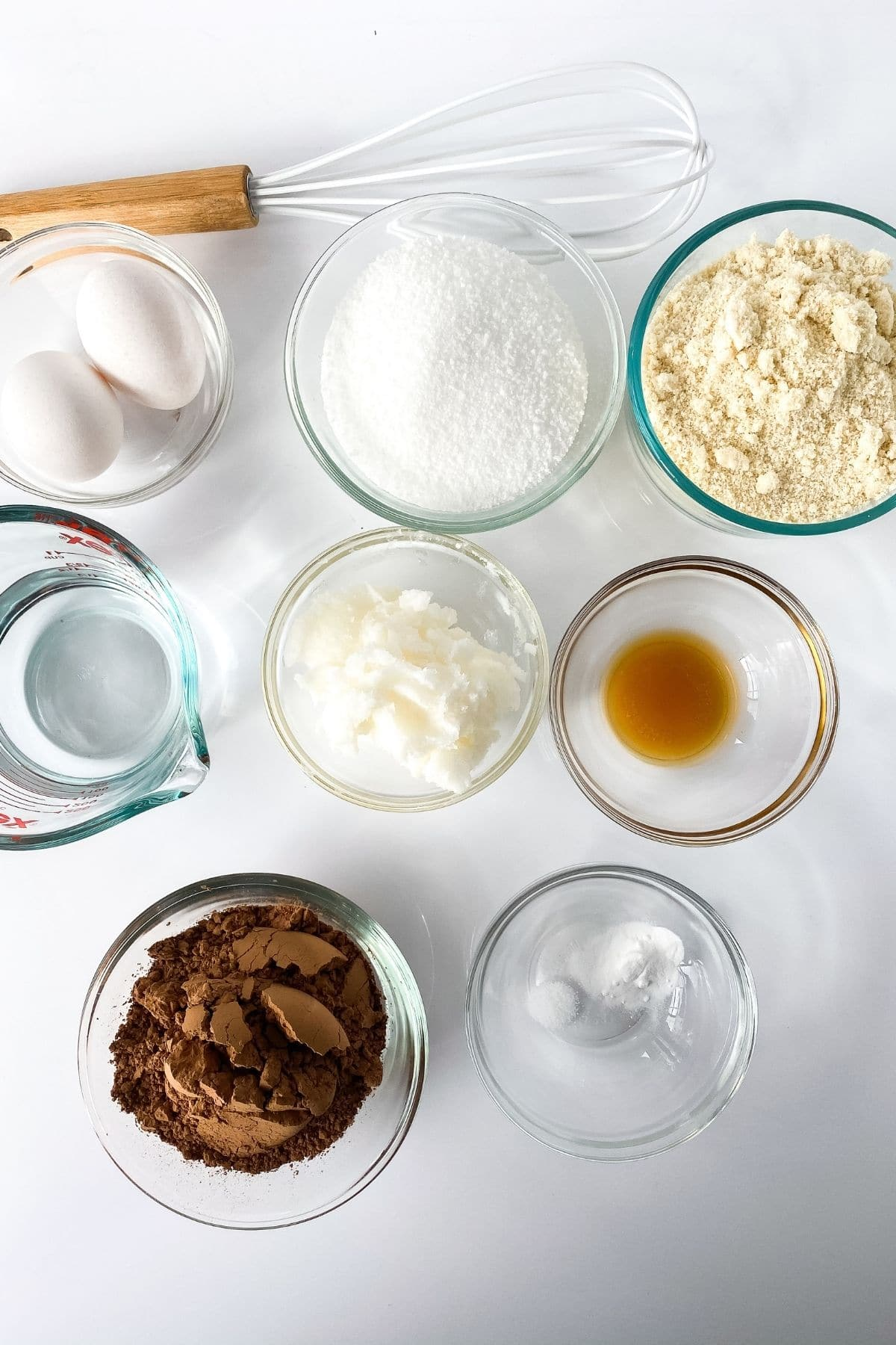 Ingredients for keto brownies
