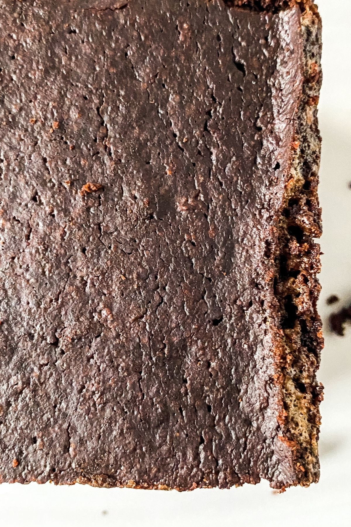 Pan of keto brownies