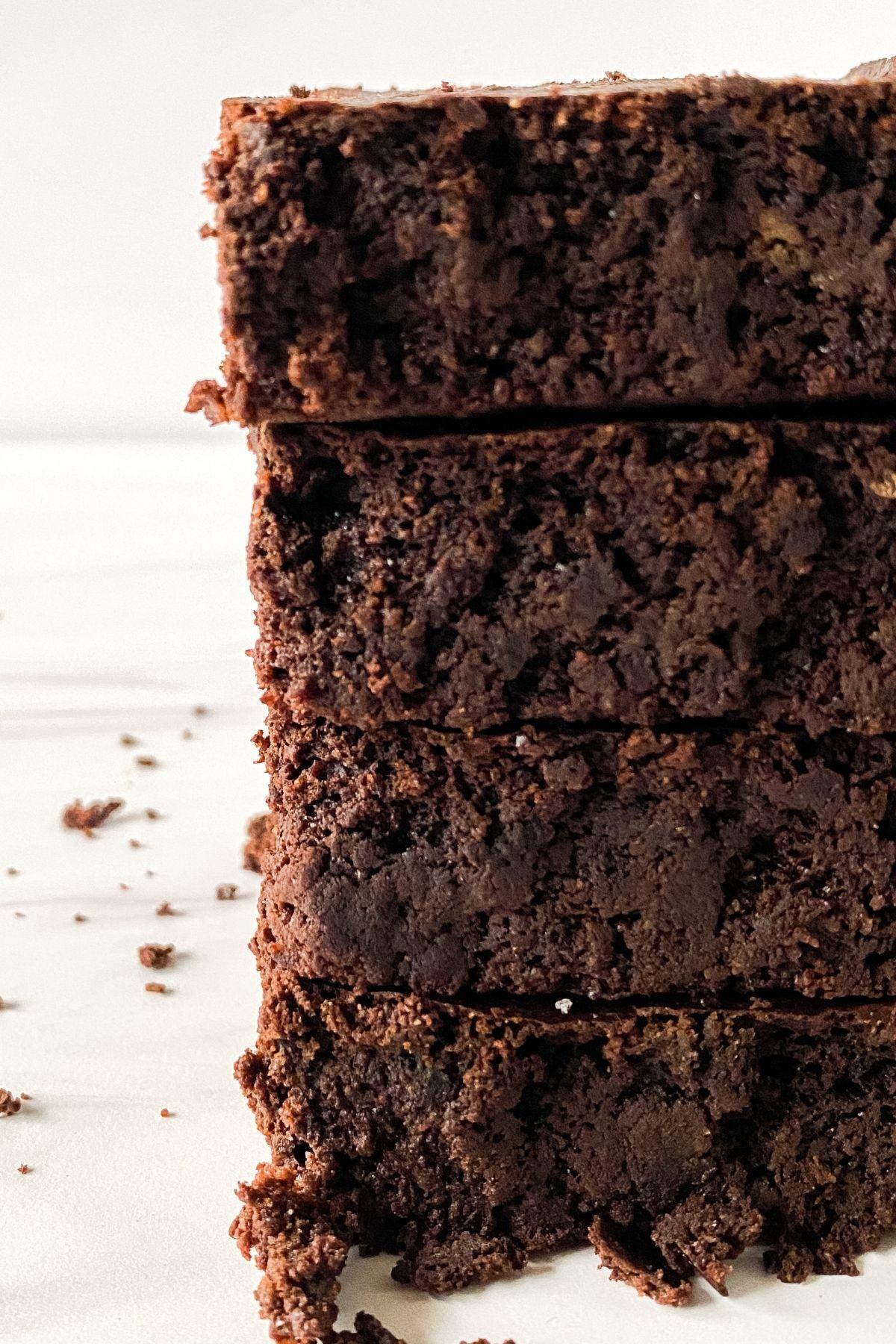 Stack of keto brownies