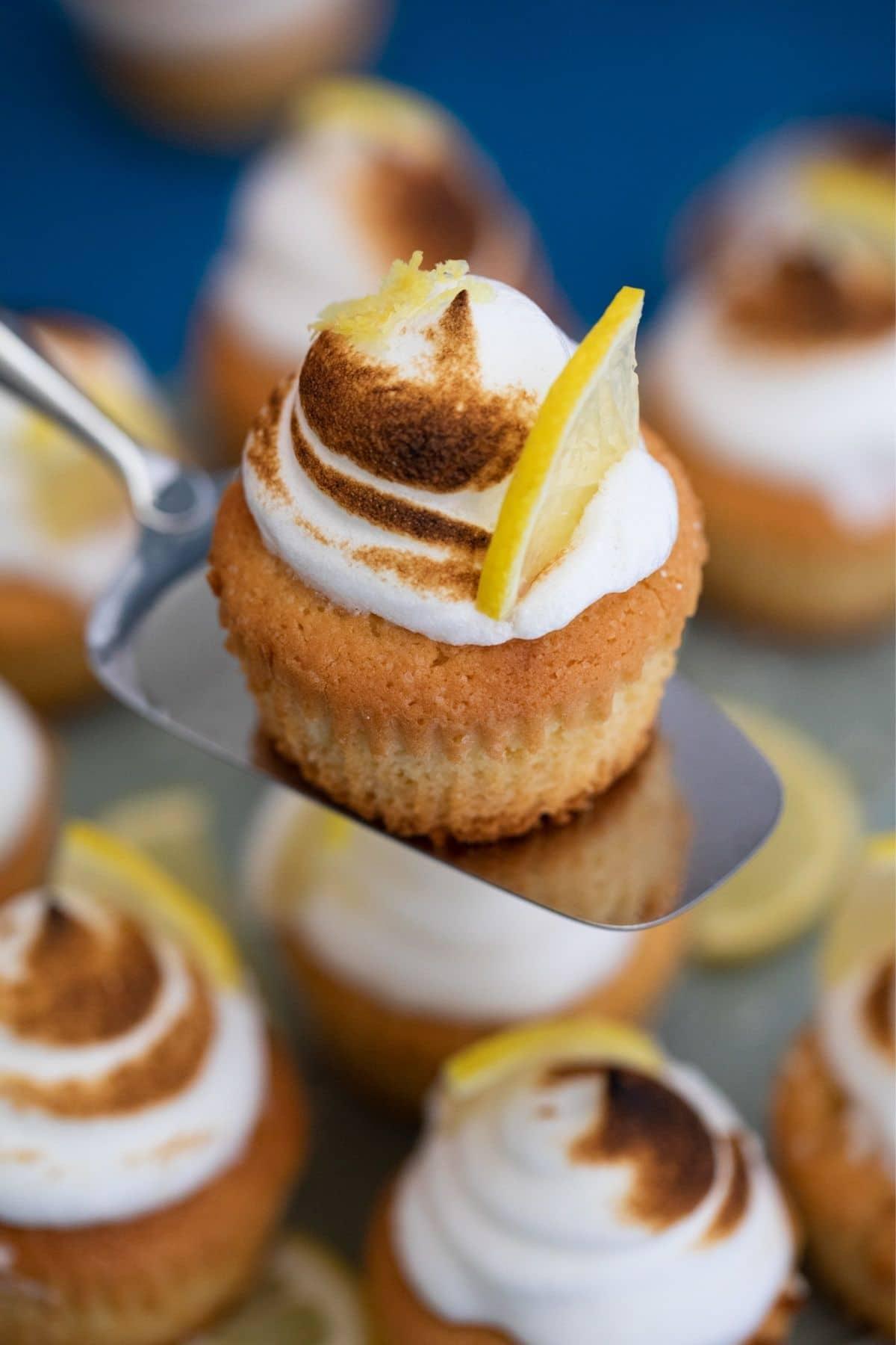 Cupcake on spatula