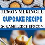 Lemon cupcake collage
