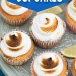 Platter of lemon cupcakes