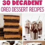 Oreo cookie desserts collage