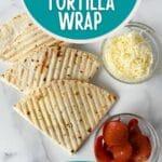 Pizza wraps on table