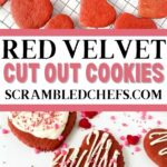 Red velvet cookies collage