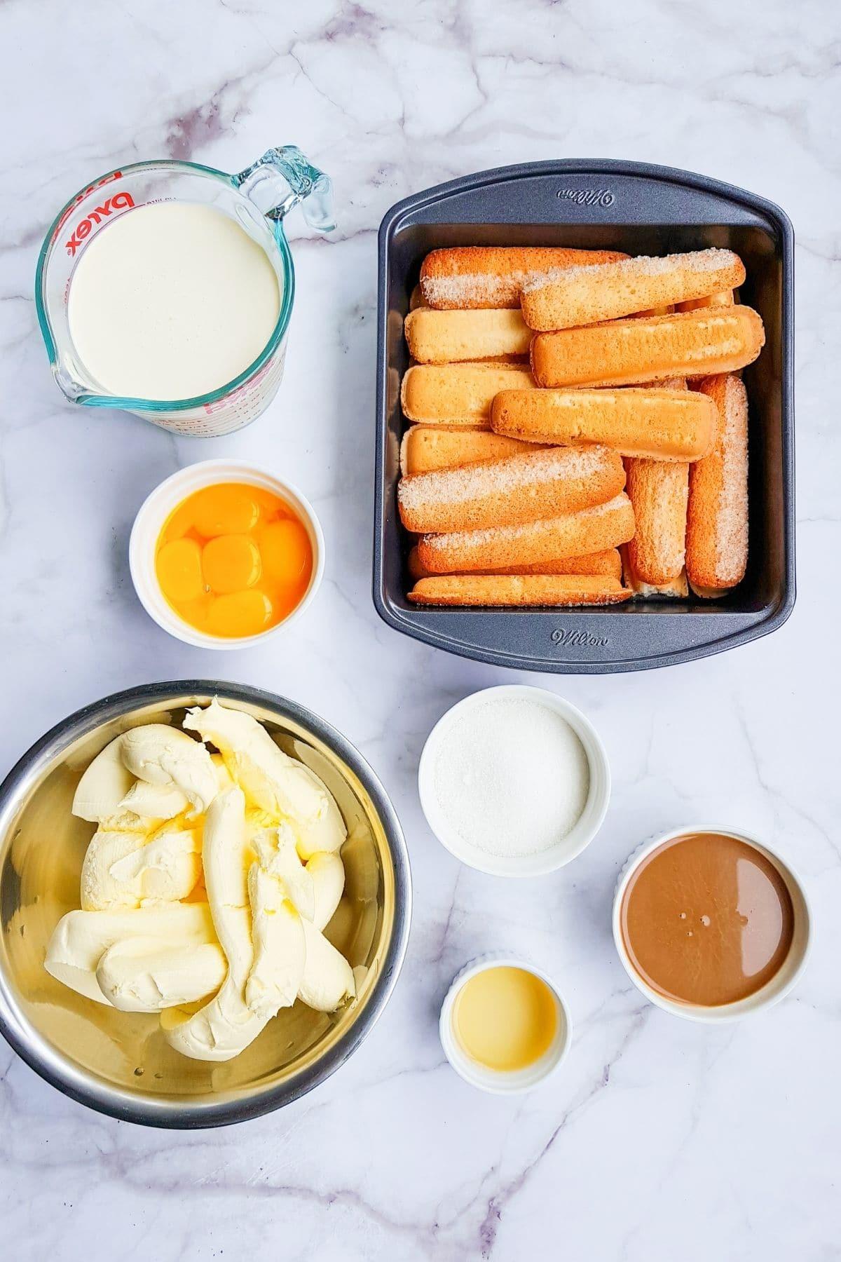 Ingredients for tiramisu