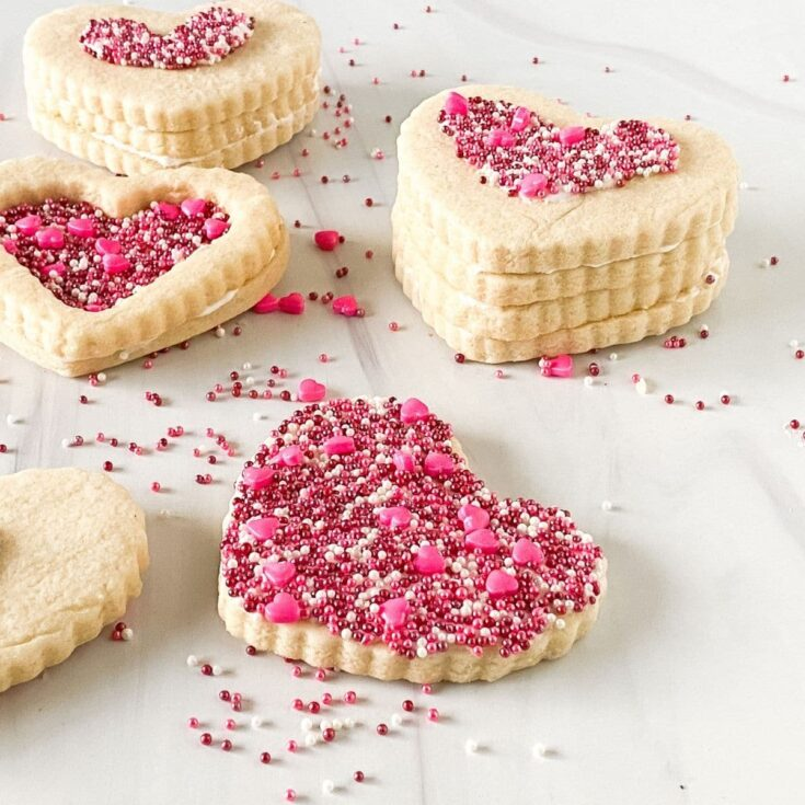 Valentine candy box cookies