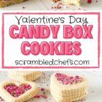 Valentine's Day sugar cookie collage