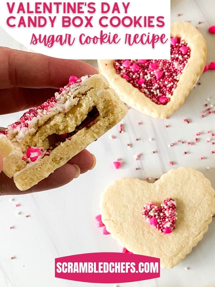 Valentine's Day Sugar cookies on white table