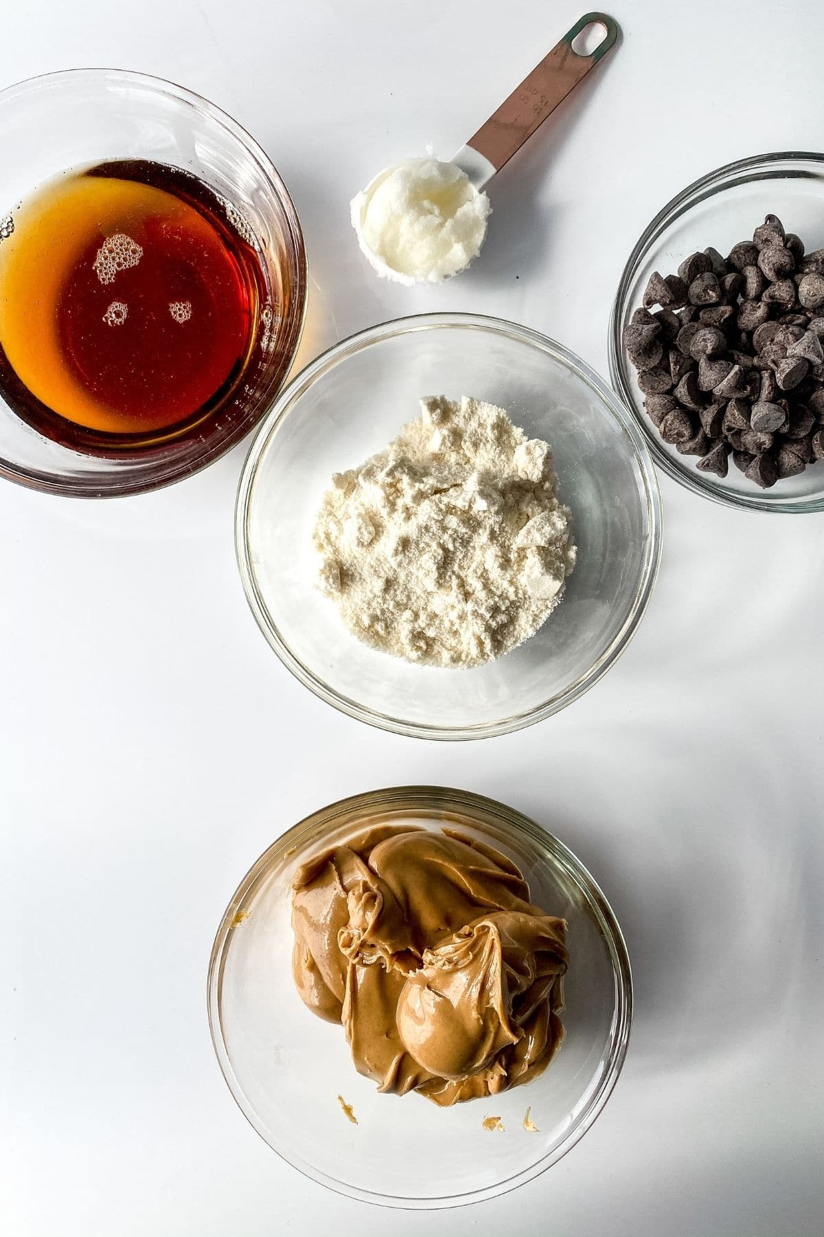 Ingredients vegan chocolate peanut butter balls