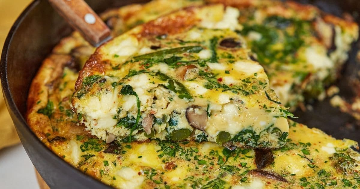 The Best Ever Loaded Vegetable Frittata Recipe