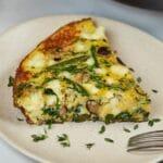 Veggie frittata on plate