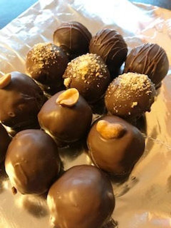 Dozen Low Carb Truffles Fudge Peanut Butter Coconut | Etsy