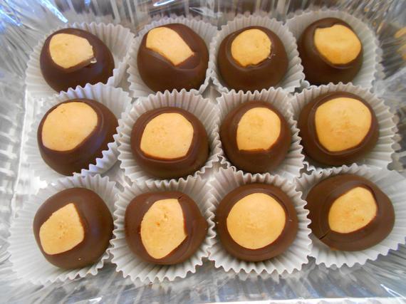 Homemade Buckeyes Homemade Candy Peanut Butter Balls | Etsy