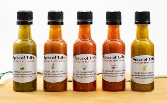 Mini Hot Sauce 5 Pack | Etsy