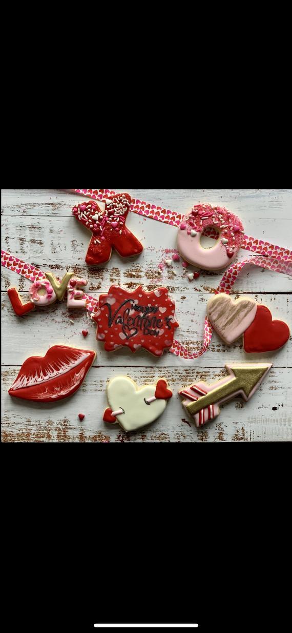 Valentine cookies | Etsy