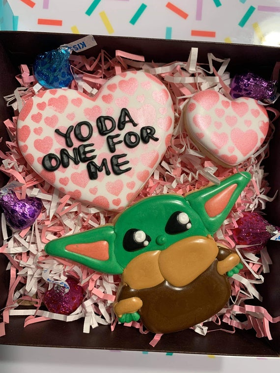 PRE ORDER Yo-da one for me Valentine's Day cookie set | Etsy