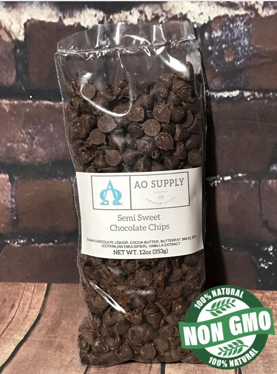 Semi Sweet Chocolate Chips 12oz Bag | Etsy