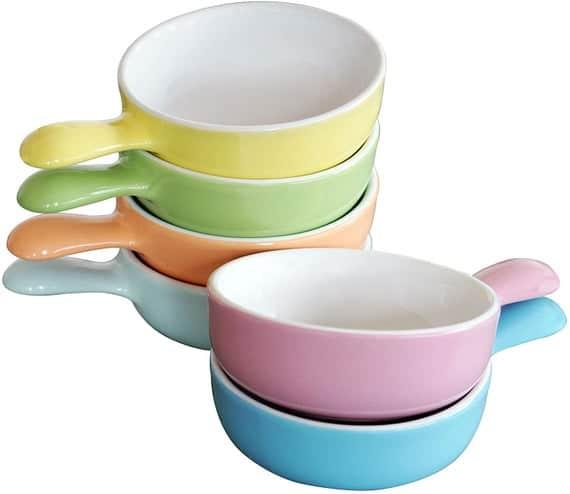 Cestash 6 Oz. Porcelain Souffle Bowls With Handles Oven Safe | Etsy