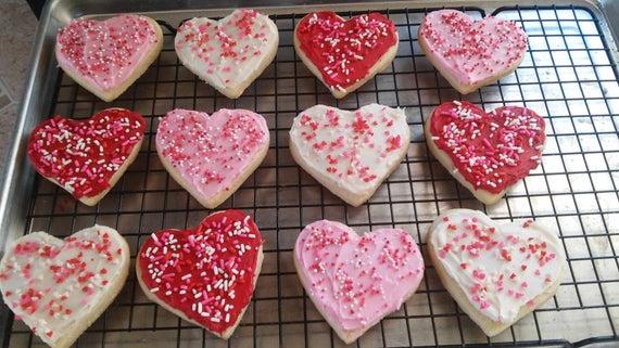 Valentines sugar cookies | Etsy