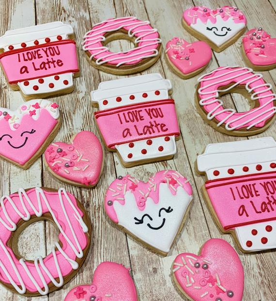 Valentine's Day Cookies Valentine's Gifts Royal | Etsy