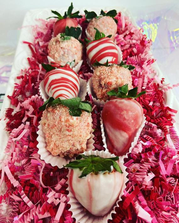 Dipped Strawberries Valentines Day | Etsy