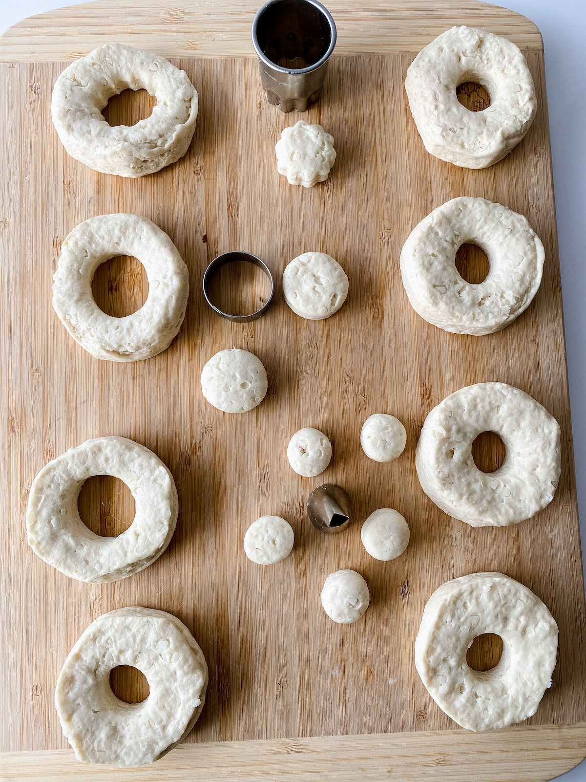 Cutting holes in donuts
