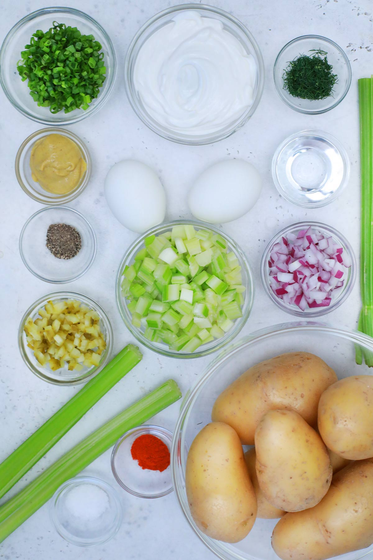 American Potato salad ingredients