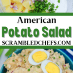 American potato salad collage