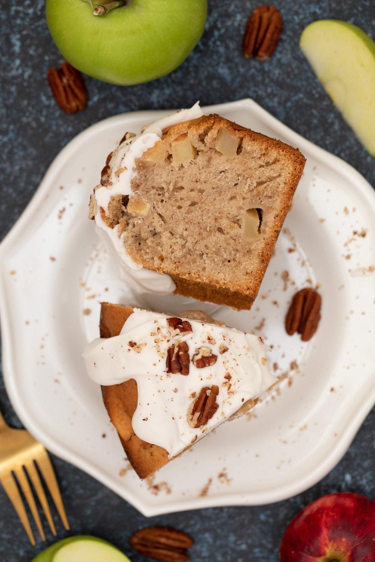 Slice of cake on plate