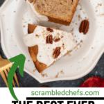 Sliced cake on plate