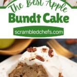 Apple cake collage