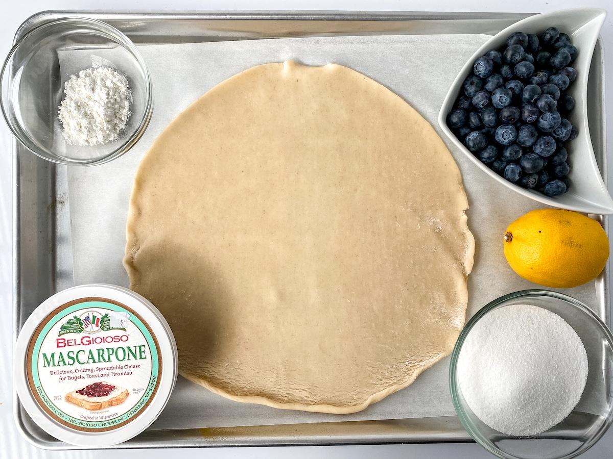 Blueberry hand pie ingredients
