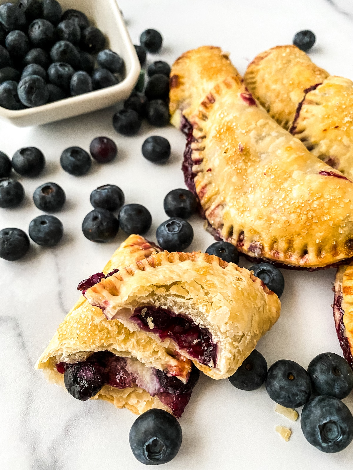 Stack of blueberry fried pie