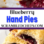 Blueberry hand pies collage