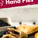 Blueberry hand pies stacked