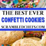 Confetti cookie sandwich collage