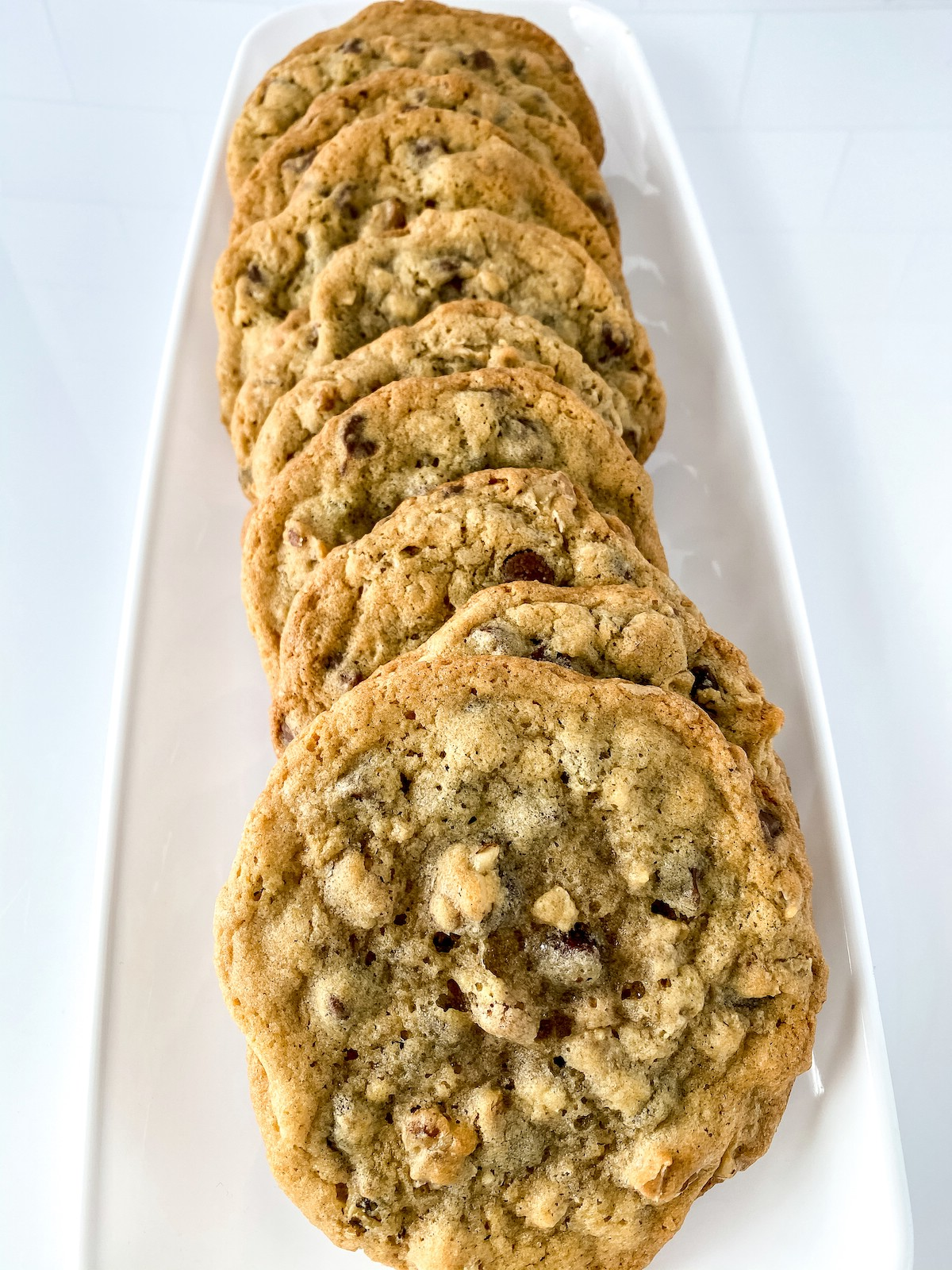 DoubleTree cookies on white platter