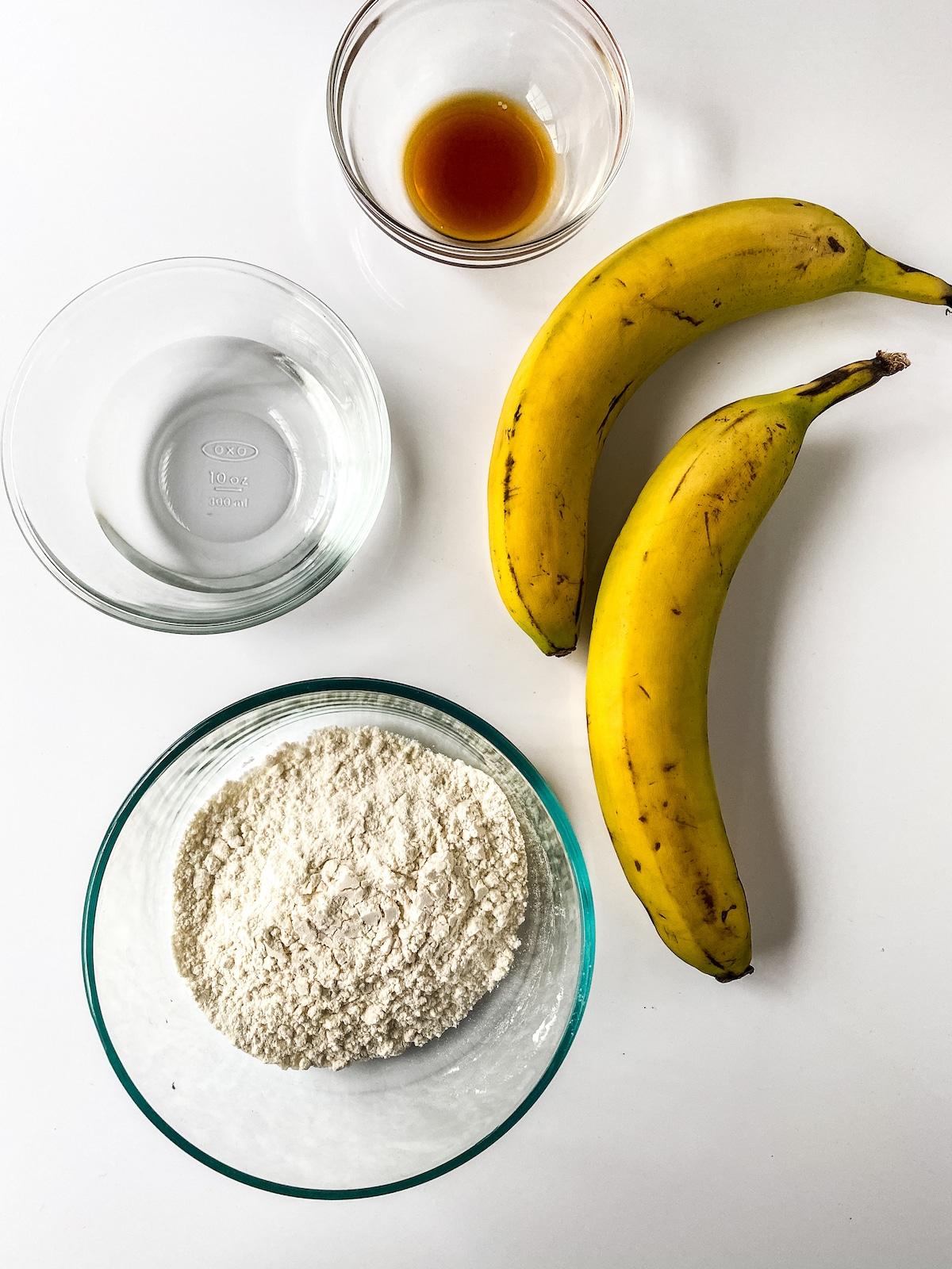 Ingredients for banana pancakes