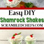 Shamrock shake collage