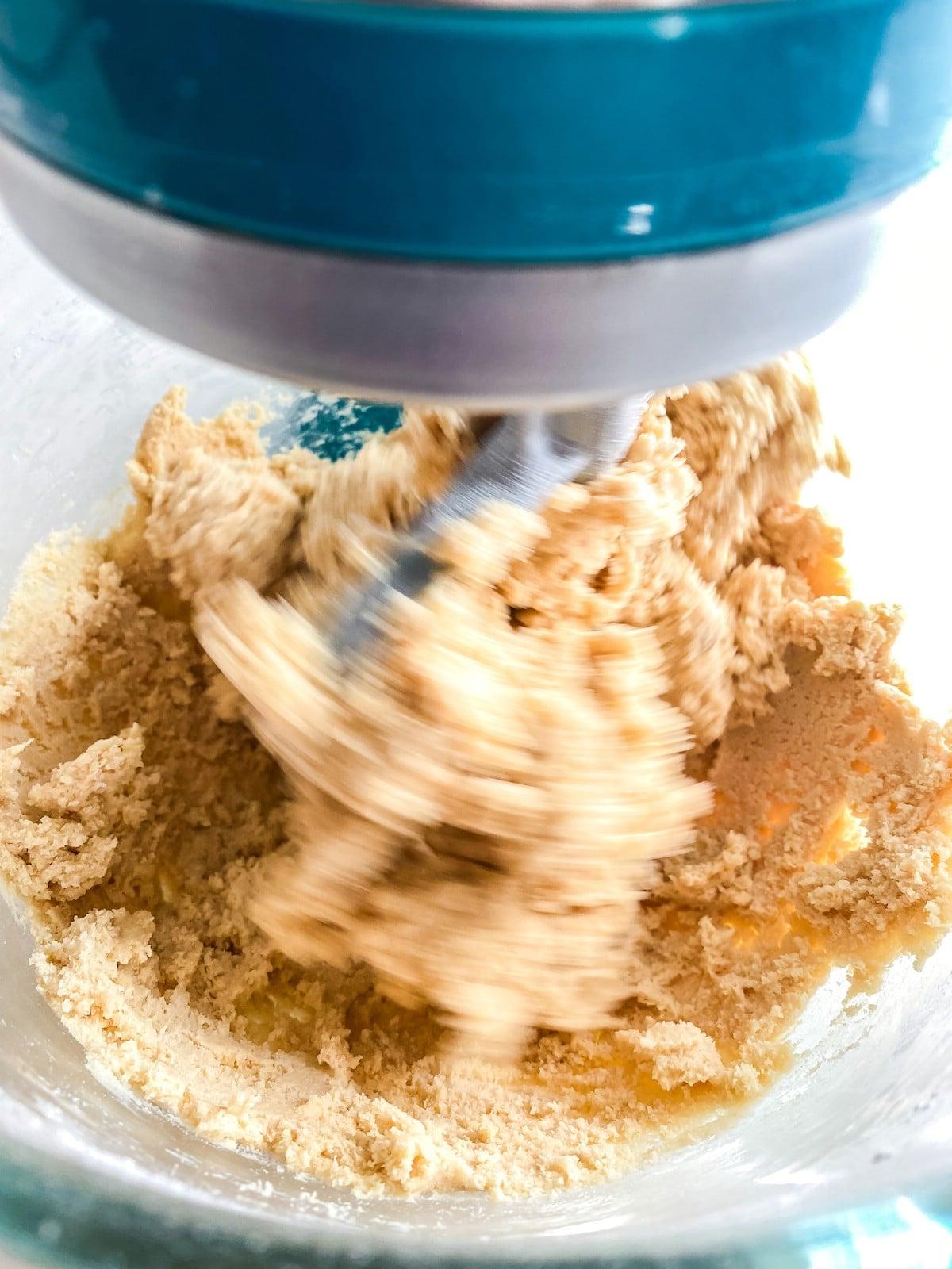 Beating cookie dough