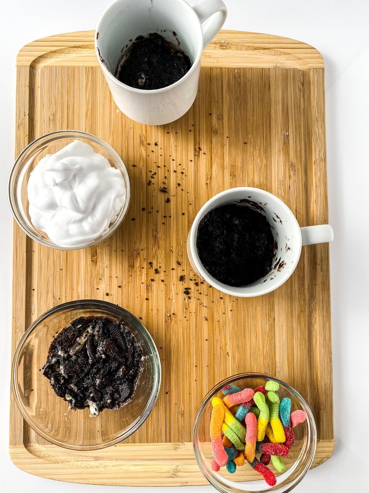 Ingredients for mug cake