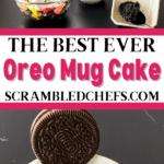Mug cake collage
