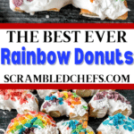Rainbow donuts collage