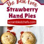 Strawberry hand pie collage